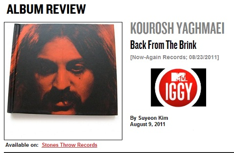 Kourosh Yaghmaei - Back From the Brink - MTVIGGY.com