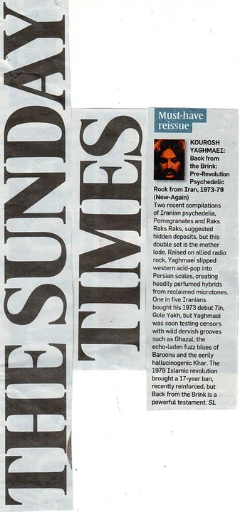 Kourosh yaghmaei - The Sunday Times